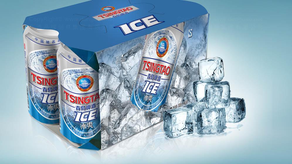青岛啤酒冰霜系列包装设计