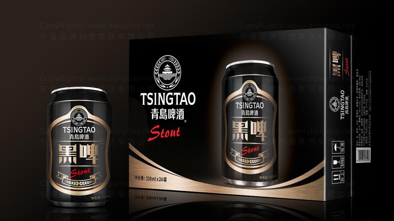 产品包装青岛啤酒黑啤包装应用