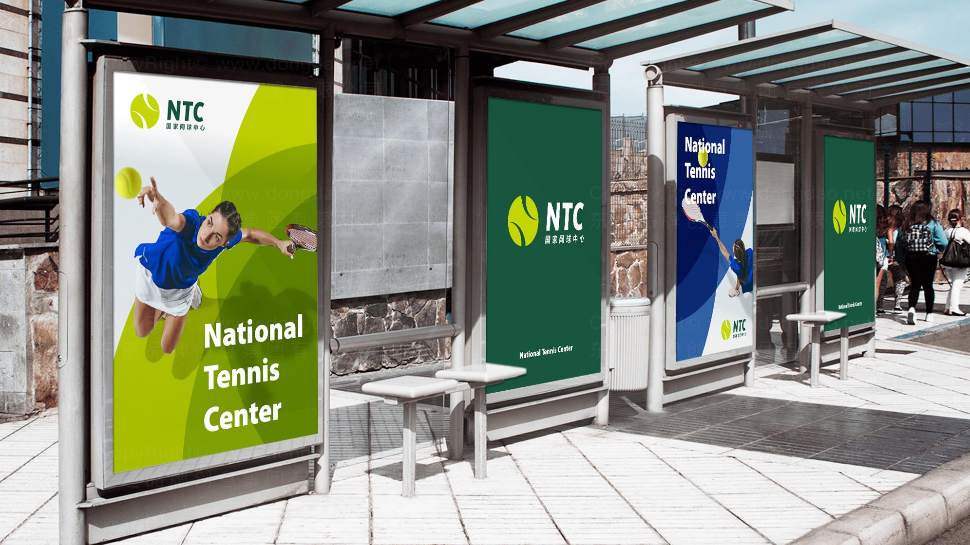 品牌设计国家网球中心标志设计应用场景