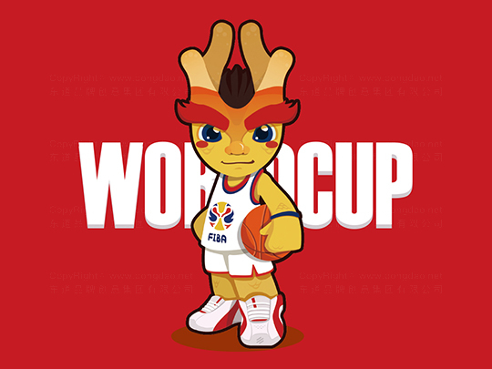 2019中国男篮世界杯吉祥物设计应用场景_2