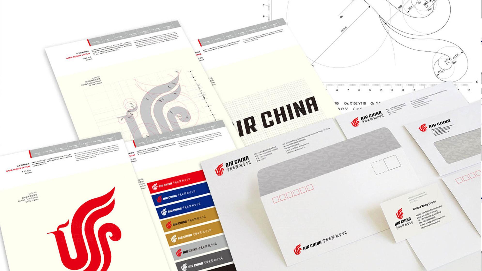 品牌设计中国国航VI设计应用