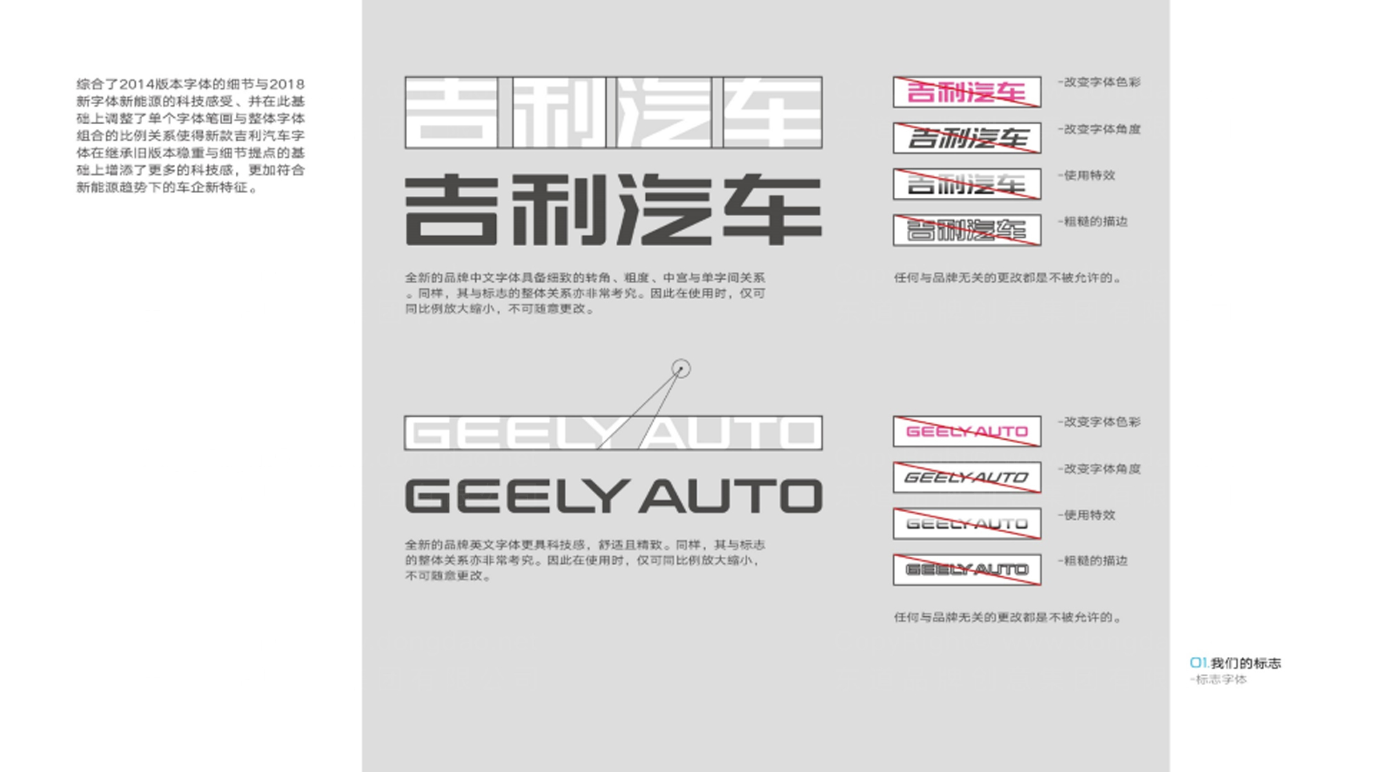 品牌设计吉利汽车LOGO优化&VI设计应用场景