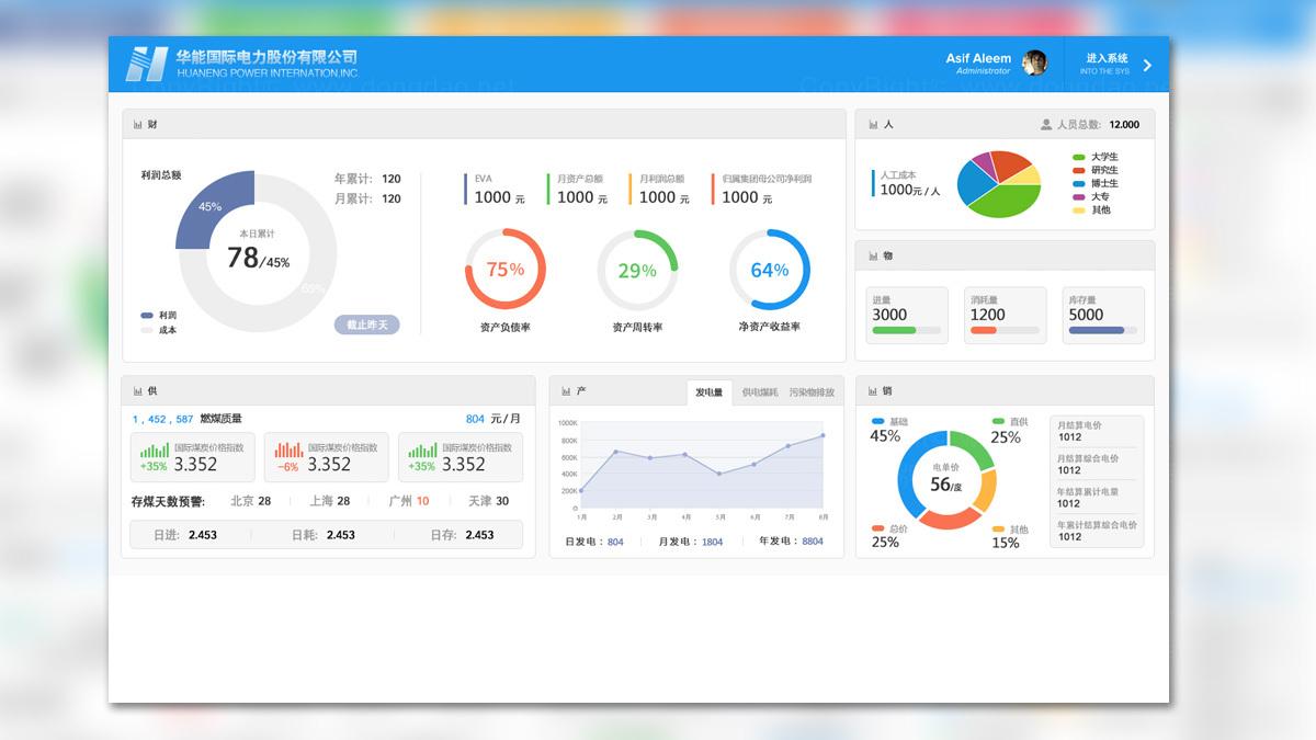 亚博APP数字华能国际电力UI交互设计应用场景_4