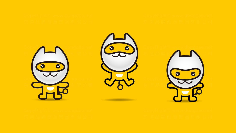 视觉传达一猫汽车吉祥物设计应用