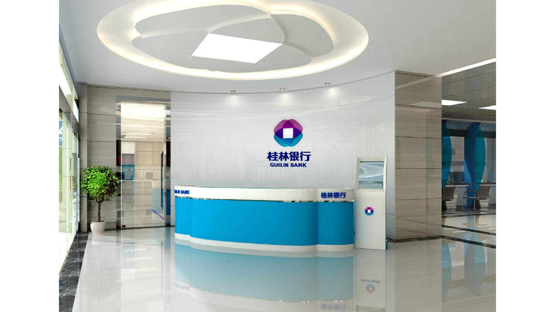 商业空间&导示桂林银行SI设计应用场景