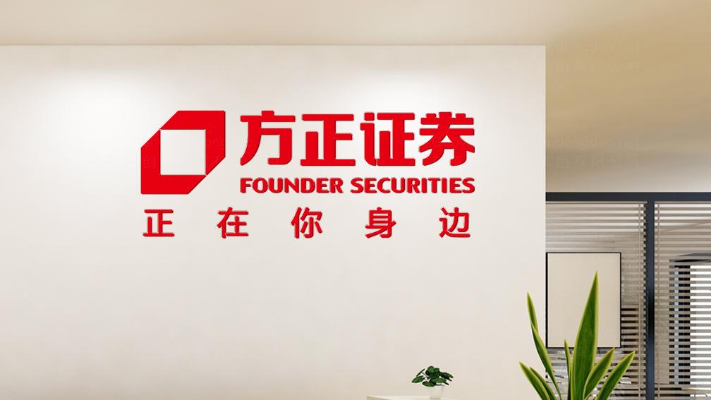 视觉传达案例方正证券企业文化墙设计