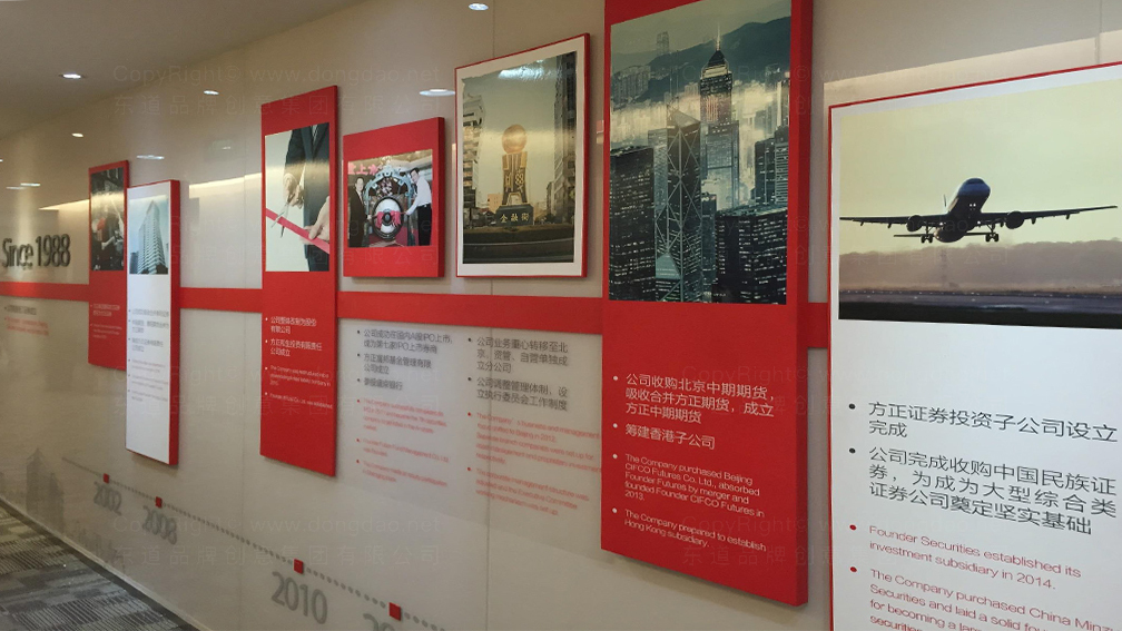 视觉传达方正证券企业文化墙设计应用场景_6