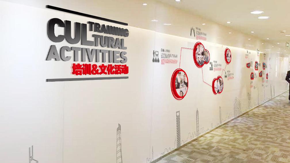 视觉传达方正证券企业文化墙设计应用场景_3