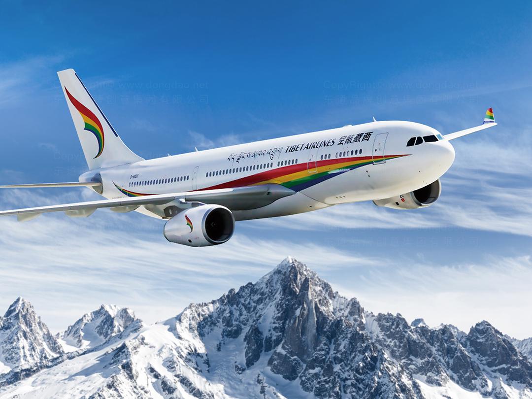 西藏航空logo设计、vi设计应用场景_7