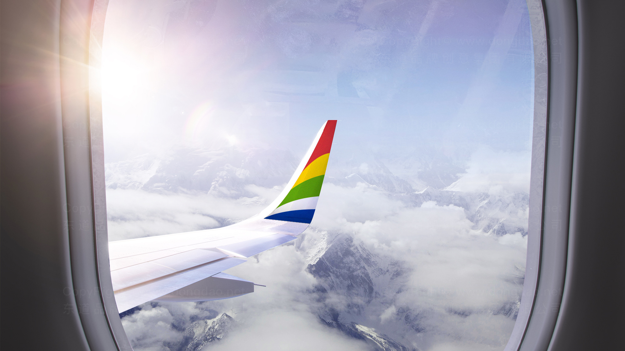 品牌设计西藏航空LOGO&VI设计应用场景_6