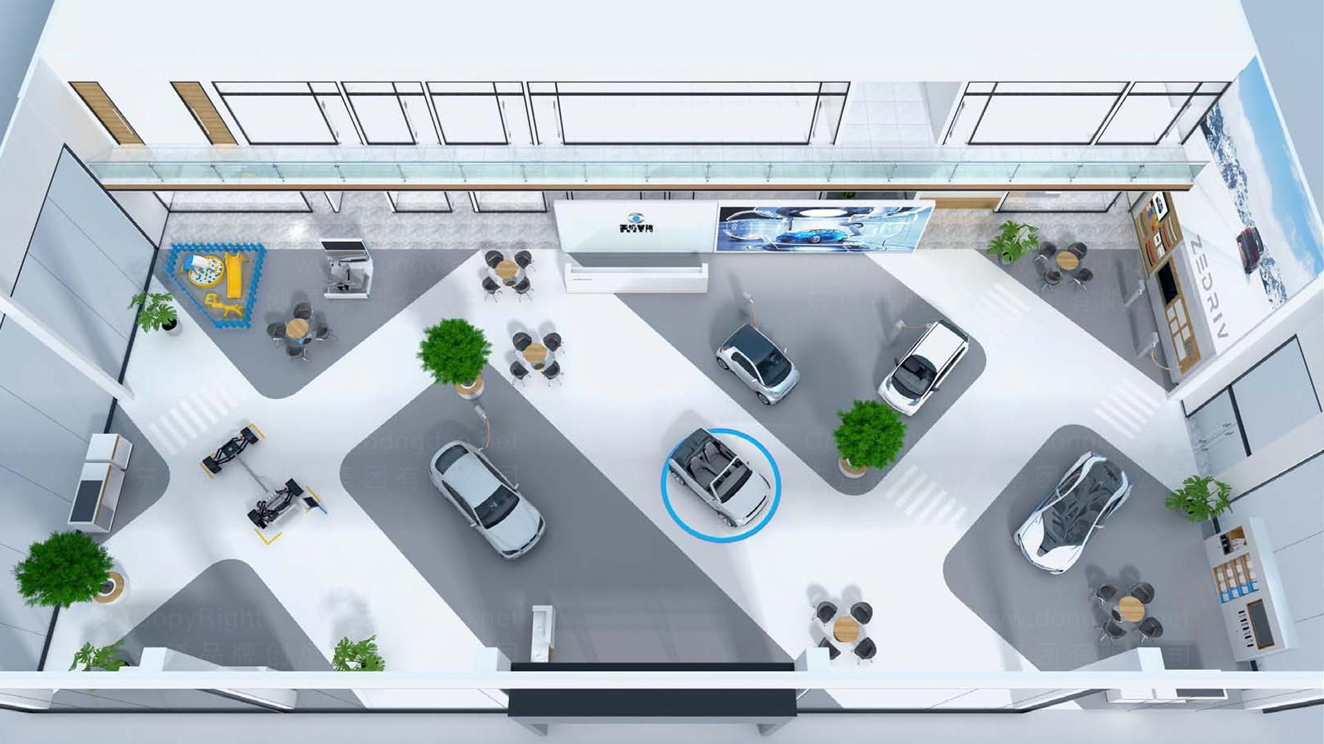 汽车业商业空间&导示国机智骏新能源汽车形象店EI设计