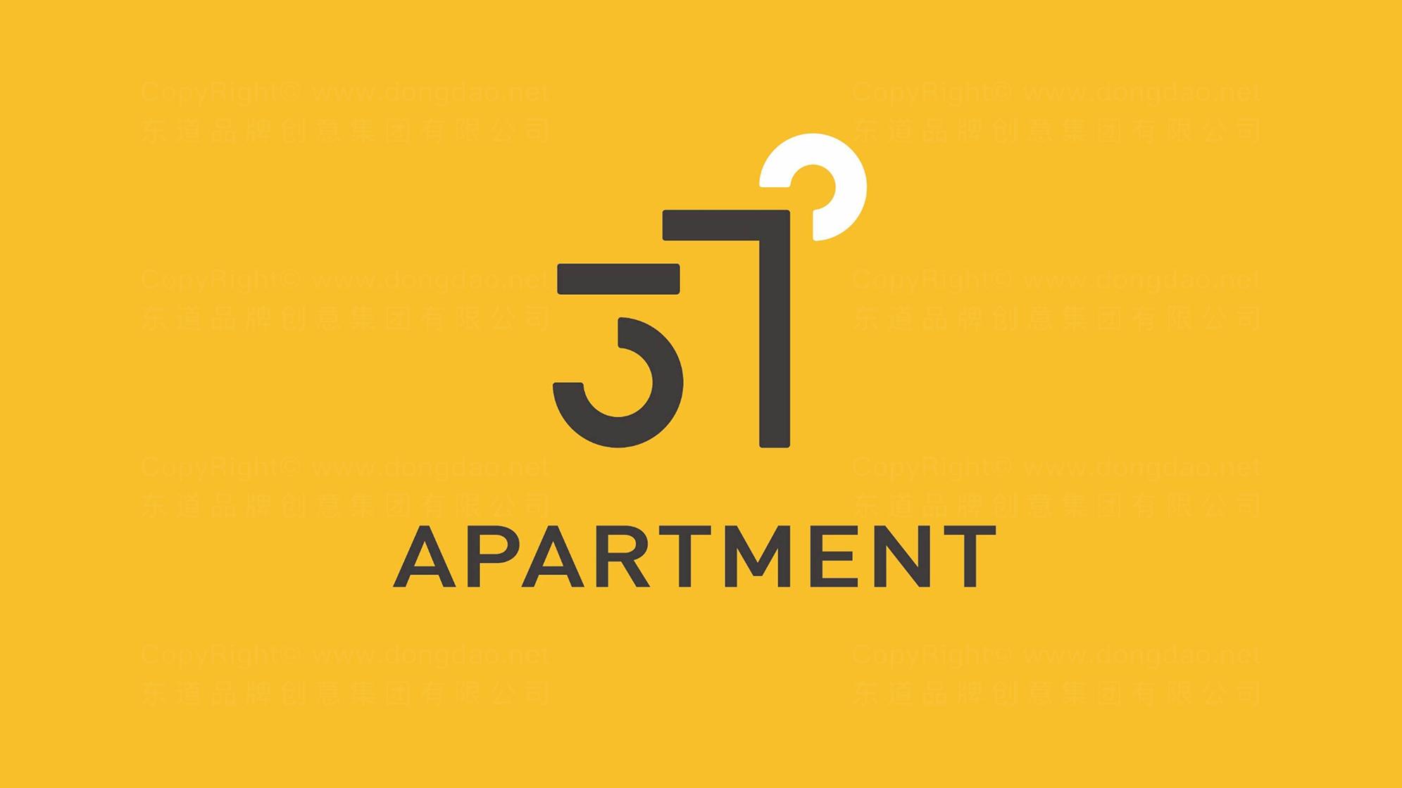 品牌设计37度公寓LOGO&VI设计应用