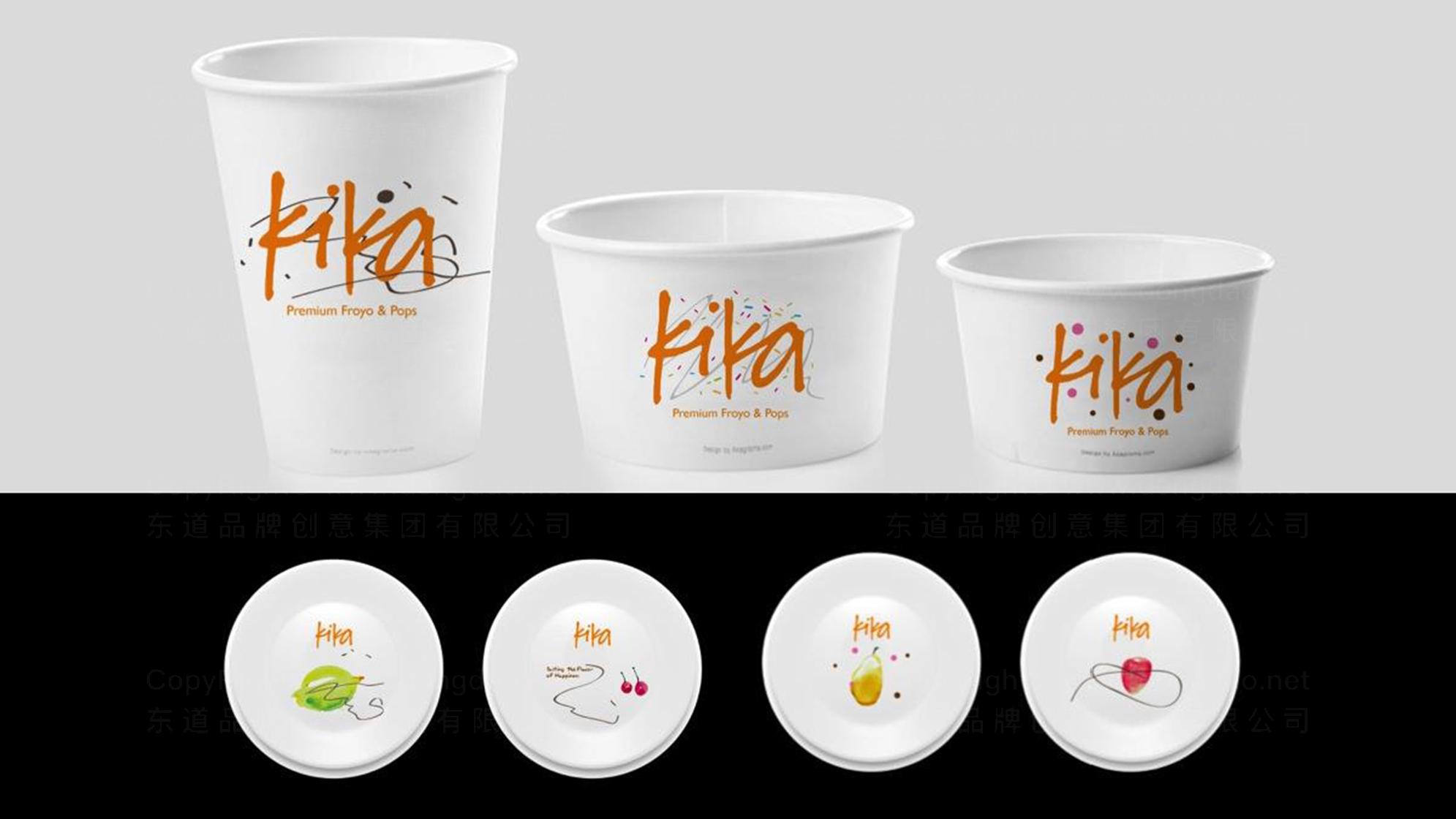 品牌设计kika冰淇淋LOGO&VI设计应用场景_4