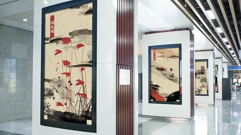 酒店餐饮视觉传达马凯餐厅文化墙设计