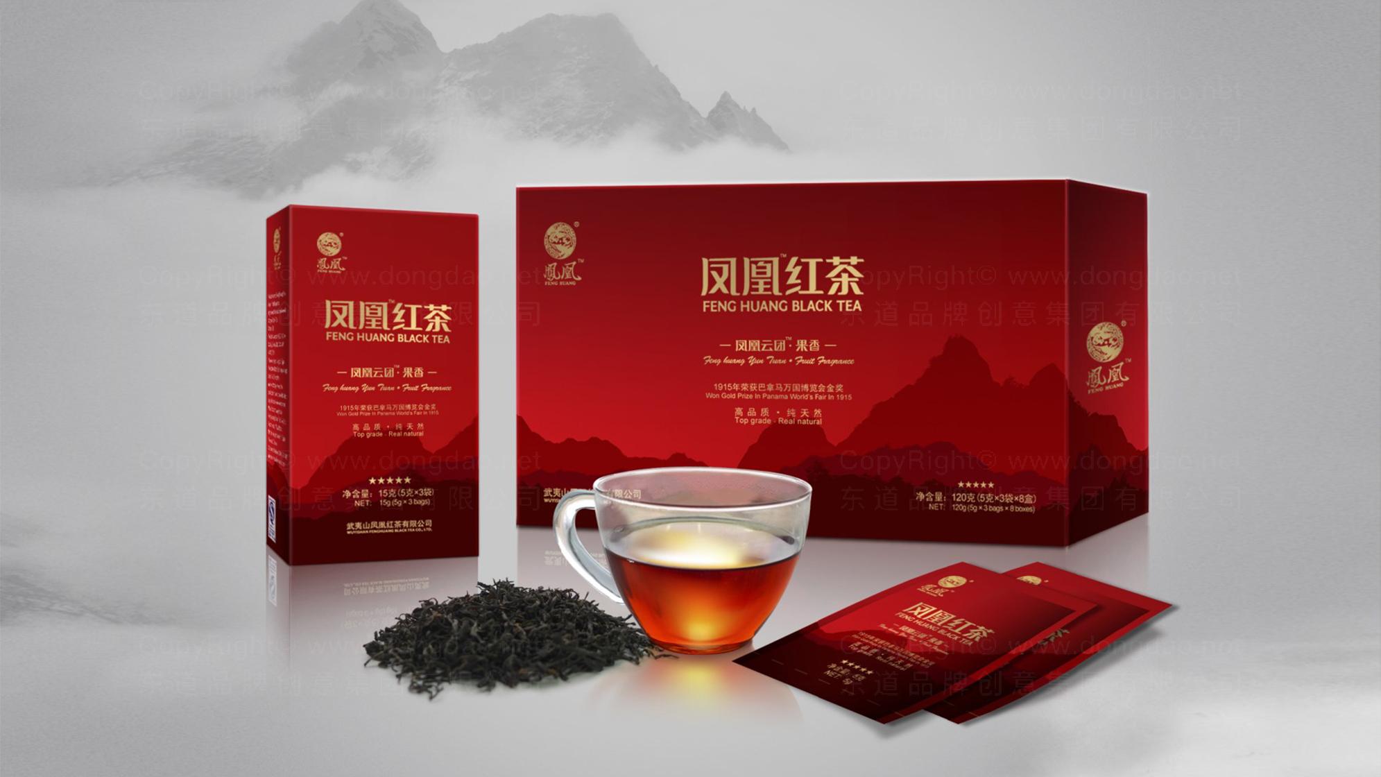 品牌设计凤凰红茶LOGO优化&VI设计应用场景