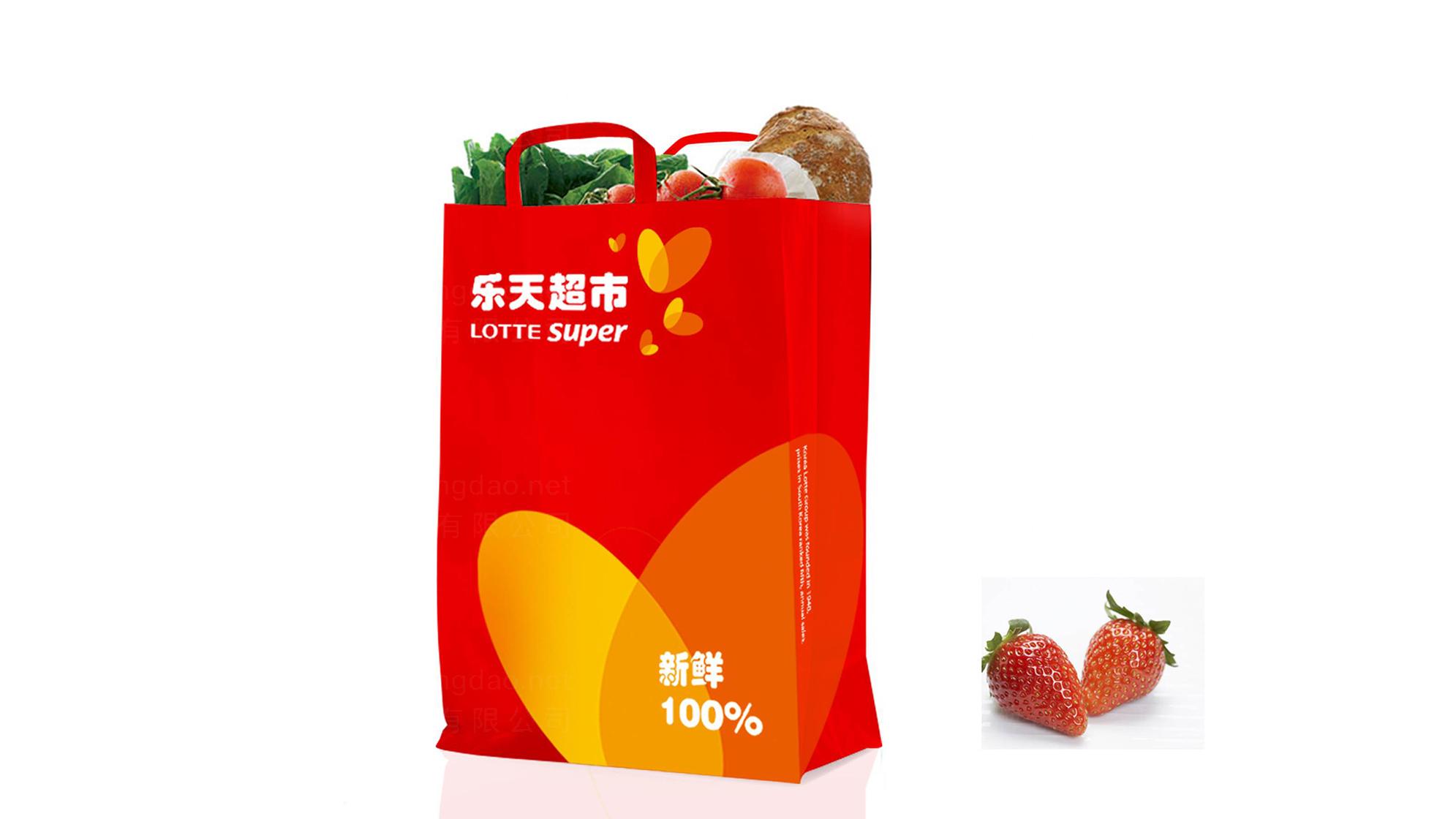 品牌设计乐天超市LOGO&VI设计应用场景_3