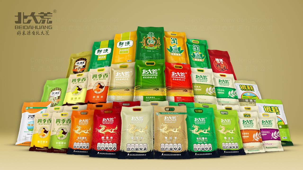 产品包装案例北大荒米业体系全案