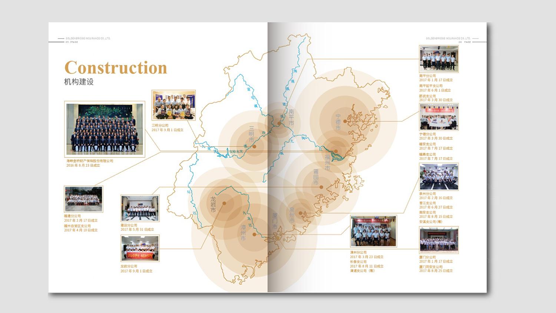 视觉传达海峡金桥保险一周年画册设计应用