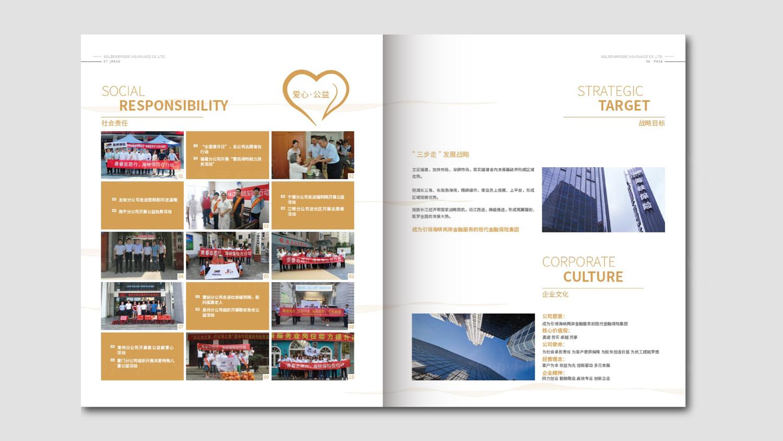 视觉传达海峡金桥保险一周年画册设计应用场景_1