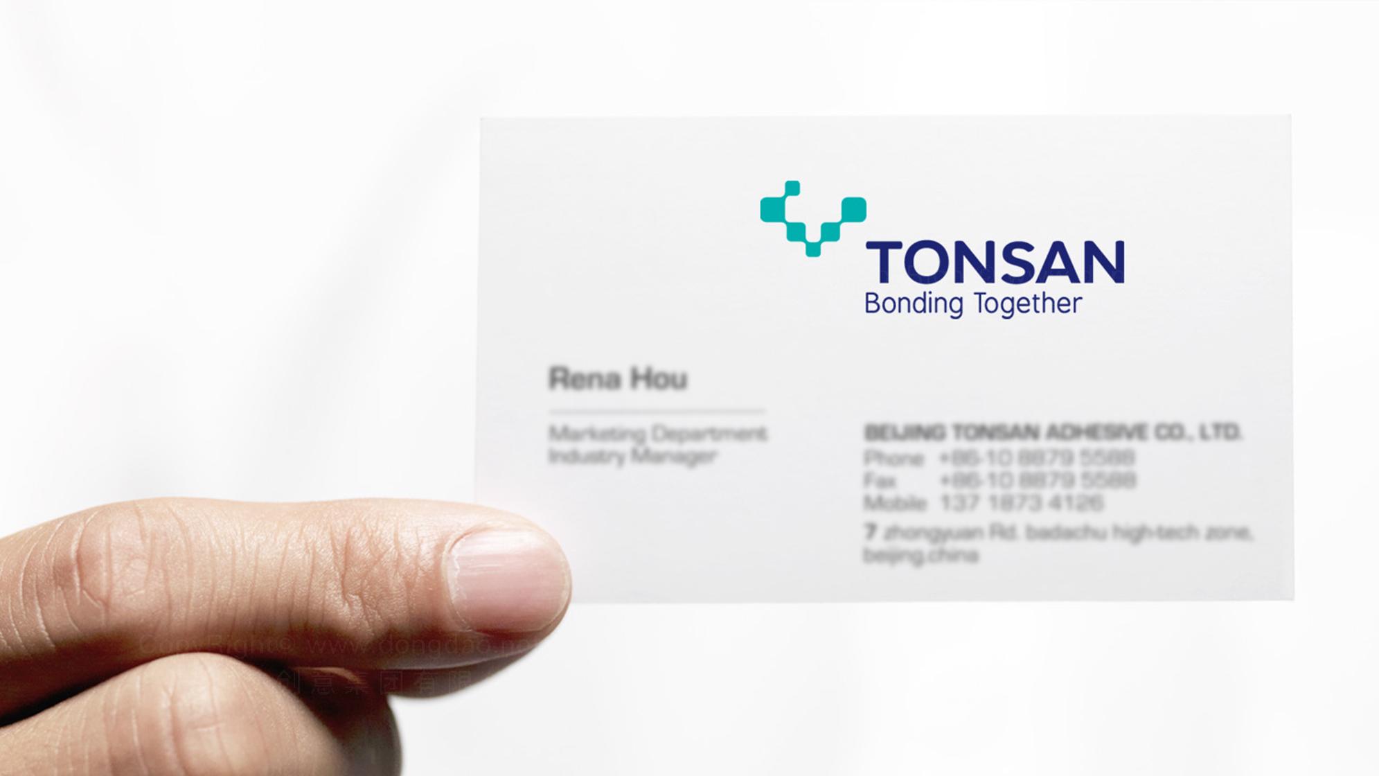 品牌设计TONSAN工业胶水LOGO&VI设计应用场景