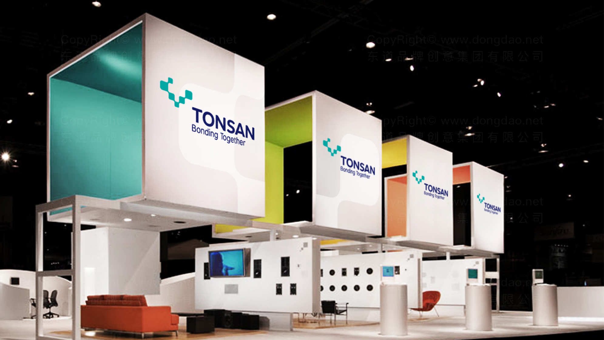 品牌设计TONSAN工业胶水LOGO&VI设计应用场景_2