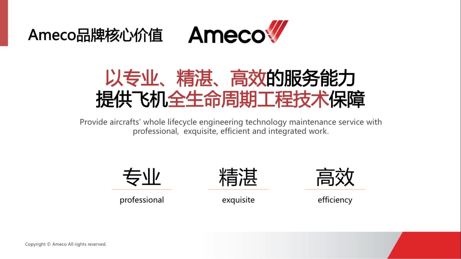 品牌战略&企业文化中国国航Ameco品牌战略规划应用场景