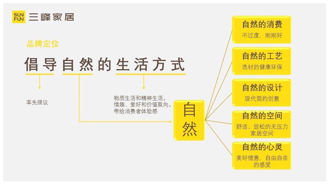 三峰家居品牌策略规划应用