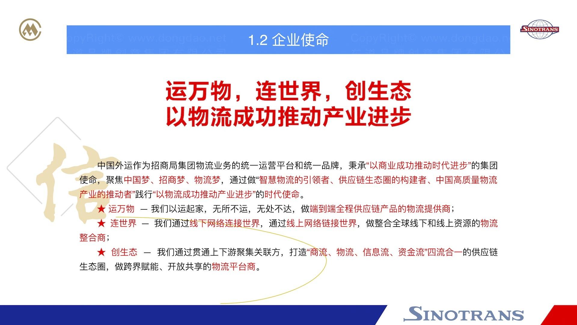 品牌战略&企业文化中国外运企业文化落地项目企业文化手册应用场景_2