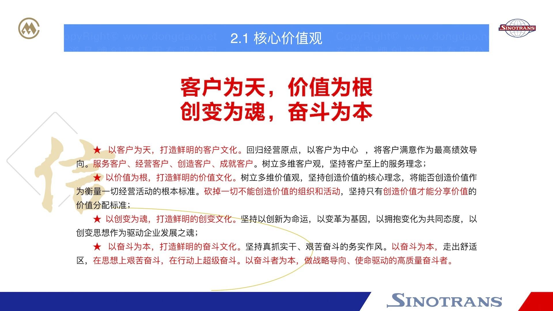 品牌战略&企业文化中国外运企业文化落地项目企业文化手册应用场景_4