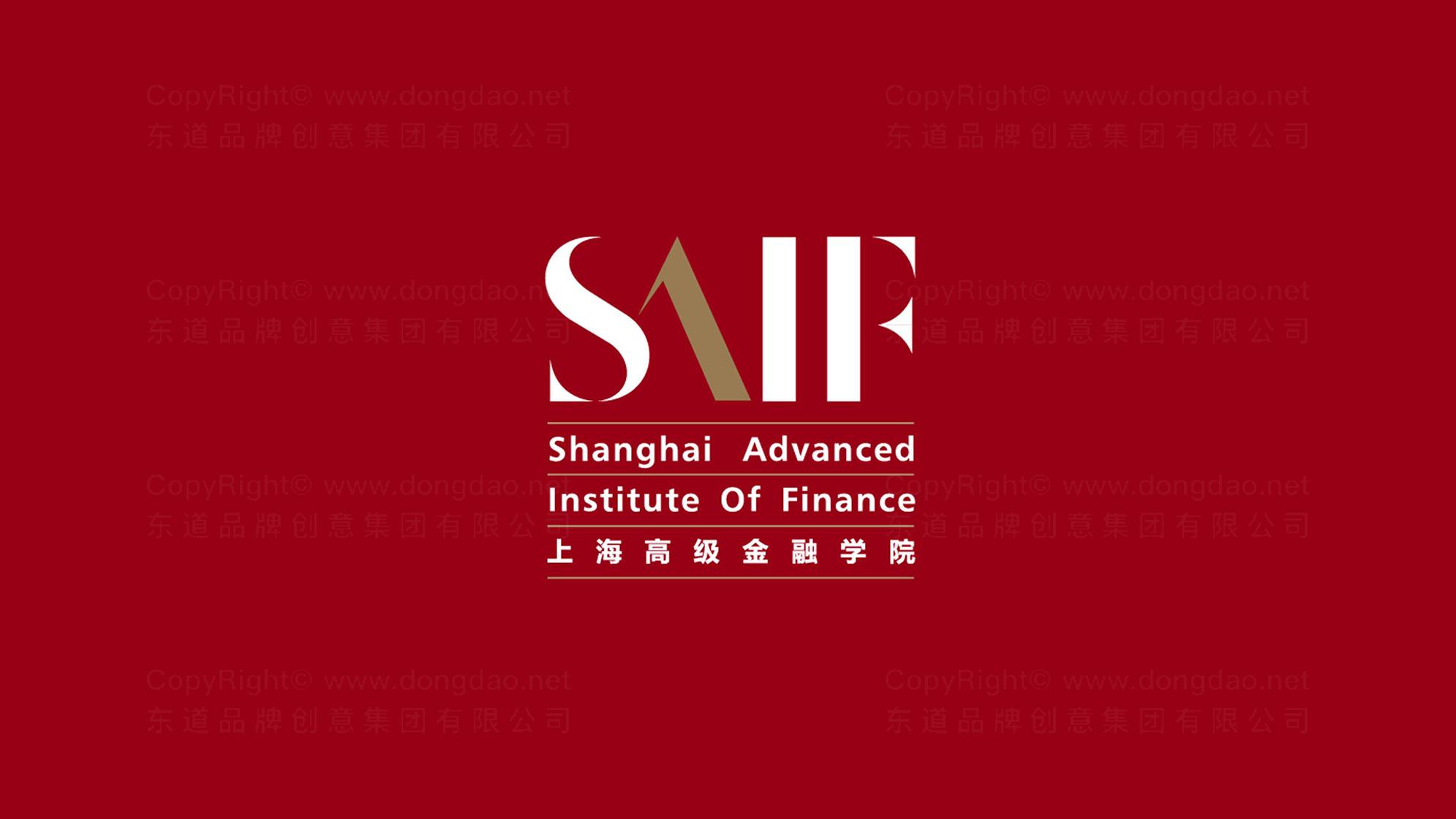 品牌设计上海高级金融学院logo设计、vi设计应用