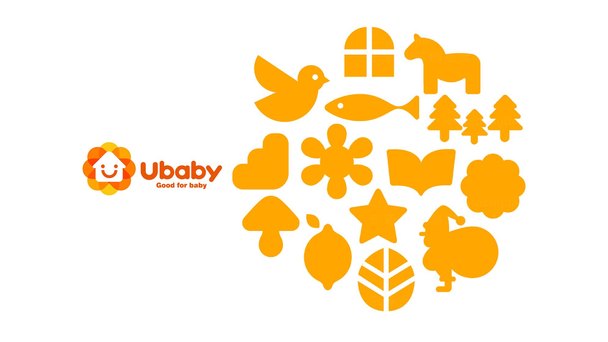 品牌设计ubaby宝贝家LOGO&VI设计应用