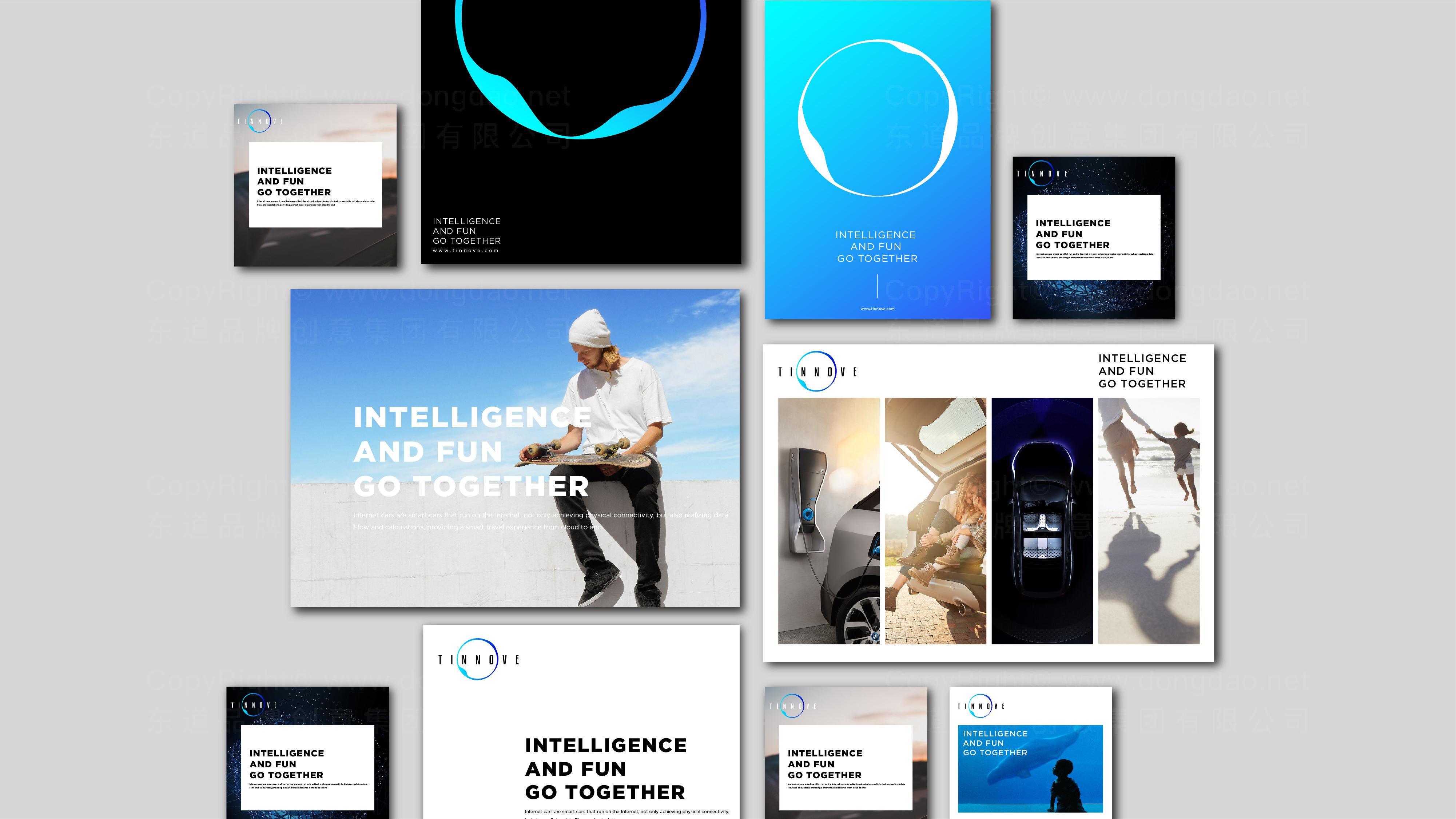 品牌设计TINNOVE汽车智能系统LOGO&VI设计应用