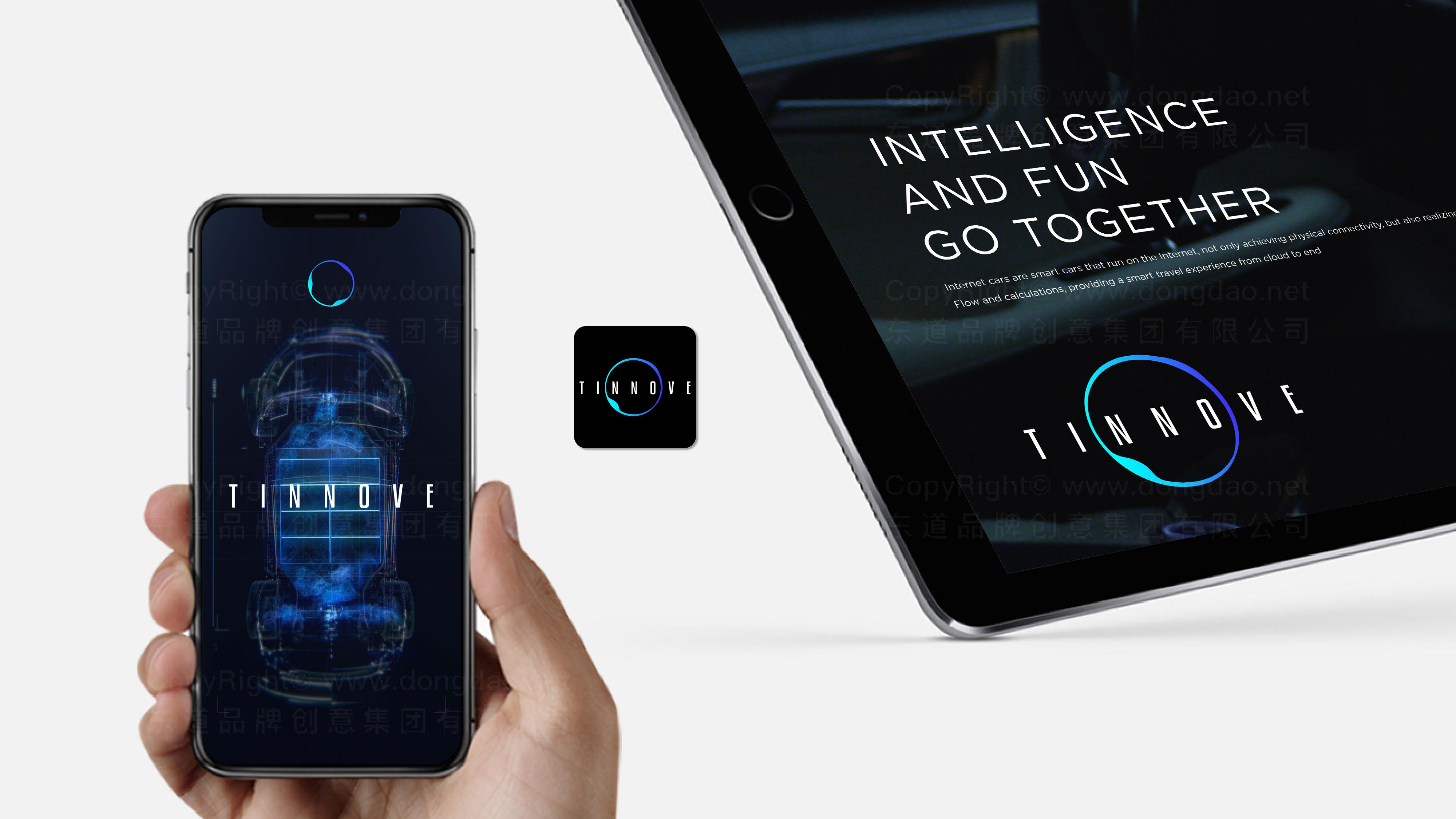 品牌设计TINNOVE汽车智能系统LOGO&VI设计应用场景_2