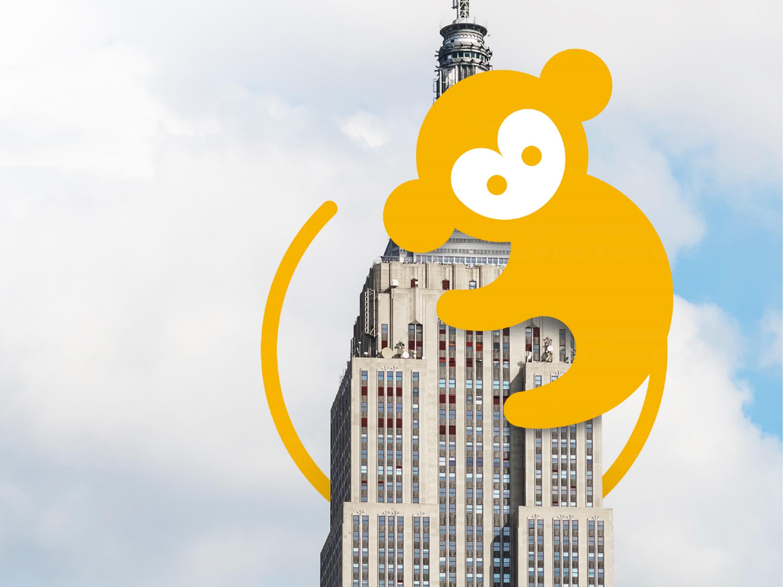 品牌设计猴开心旅游LOGO&VI设计应用场景_7
