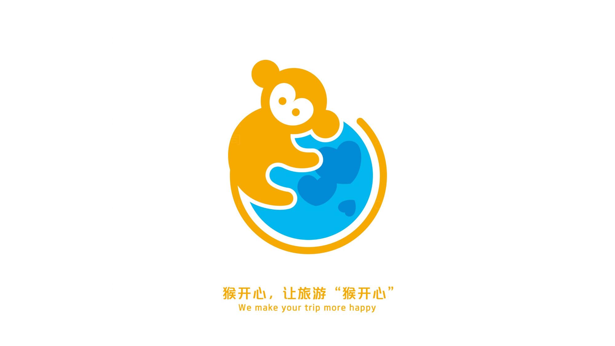 品牌设计猴开心旅游LOGO&VI设计应用场景