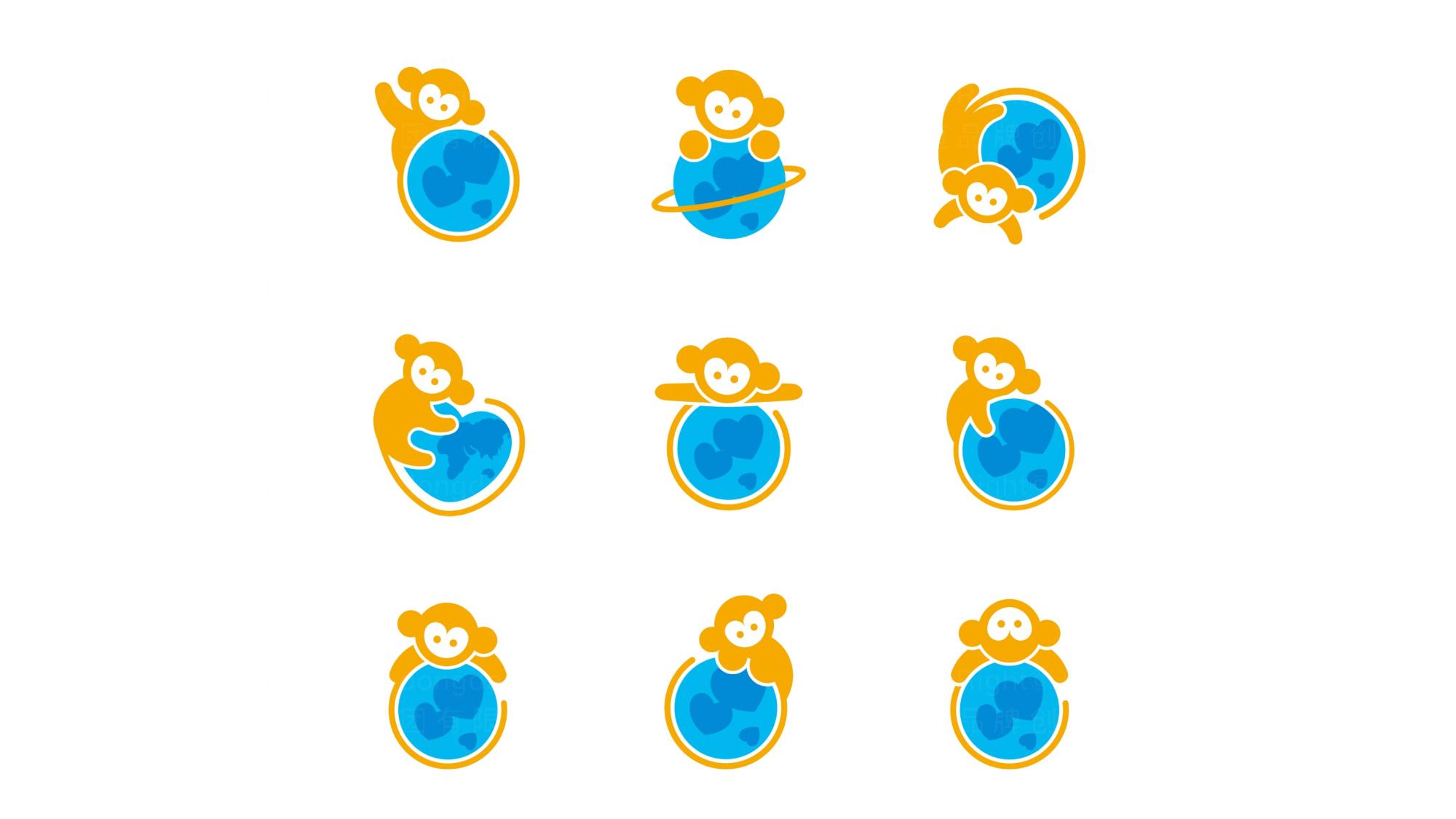 品牌设计猴开心旅游LOGO&VI设计应用场景_1