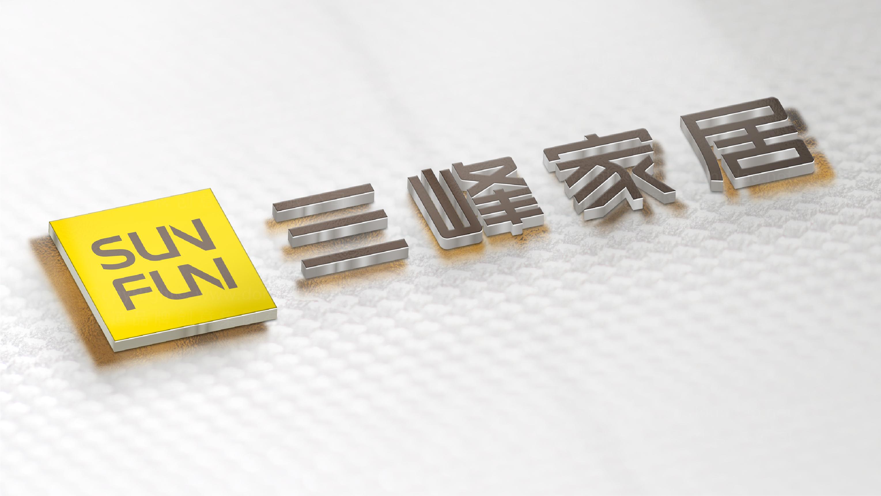 品牌设计案例三峰木门LOGO&VI设计