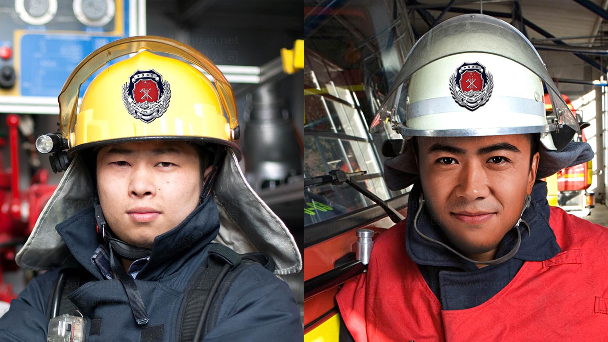 品牌设计中国消防LOGO优化&VI设计应用场景_3