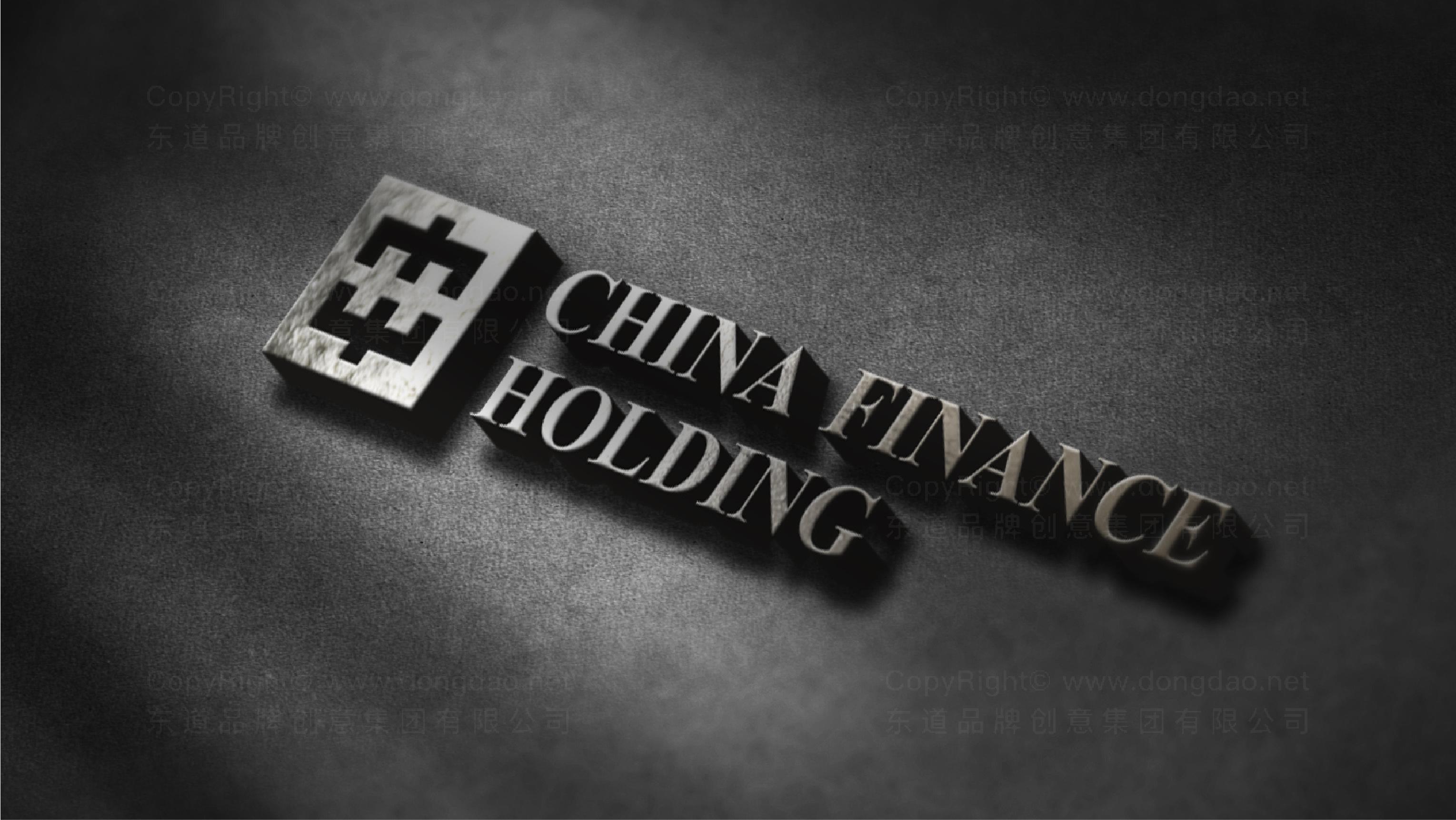 银行金融品牌设计中华金融控股标志设计