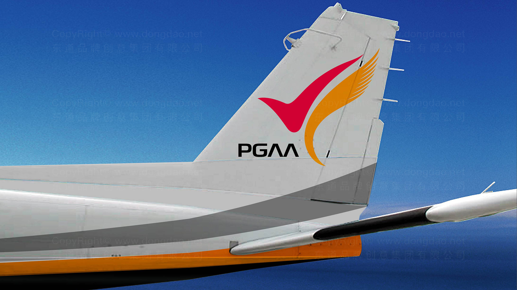 品牌设计案例凤凰通用航空标志设计