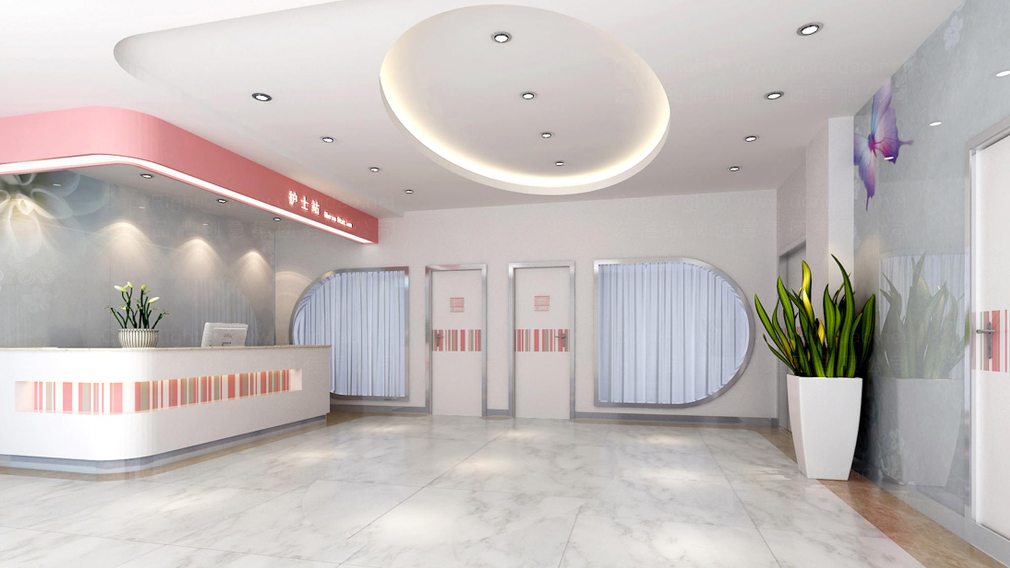 品牌设计北京五洲女子医院LOGO&VI设计应用场景_1
