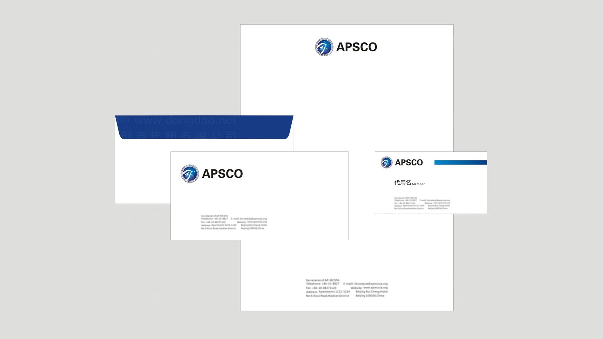 品牌设计亚太空间合作组织LOGO&VI设计应用