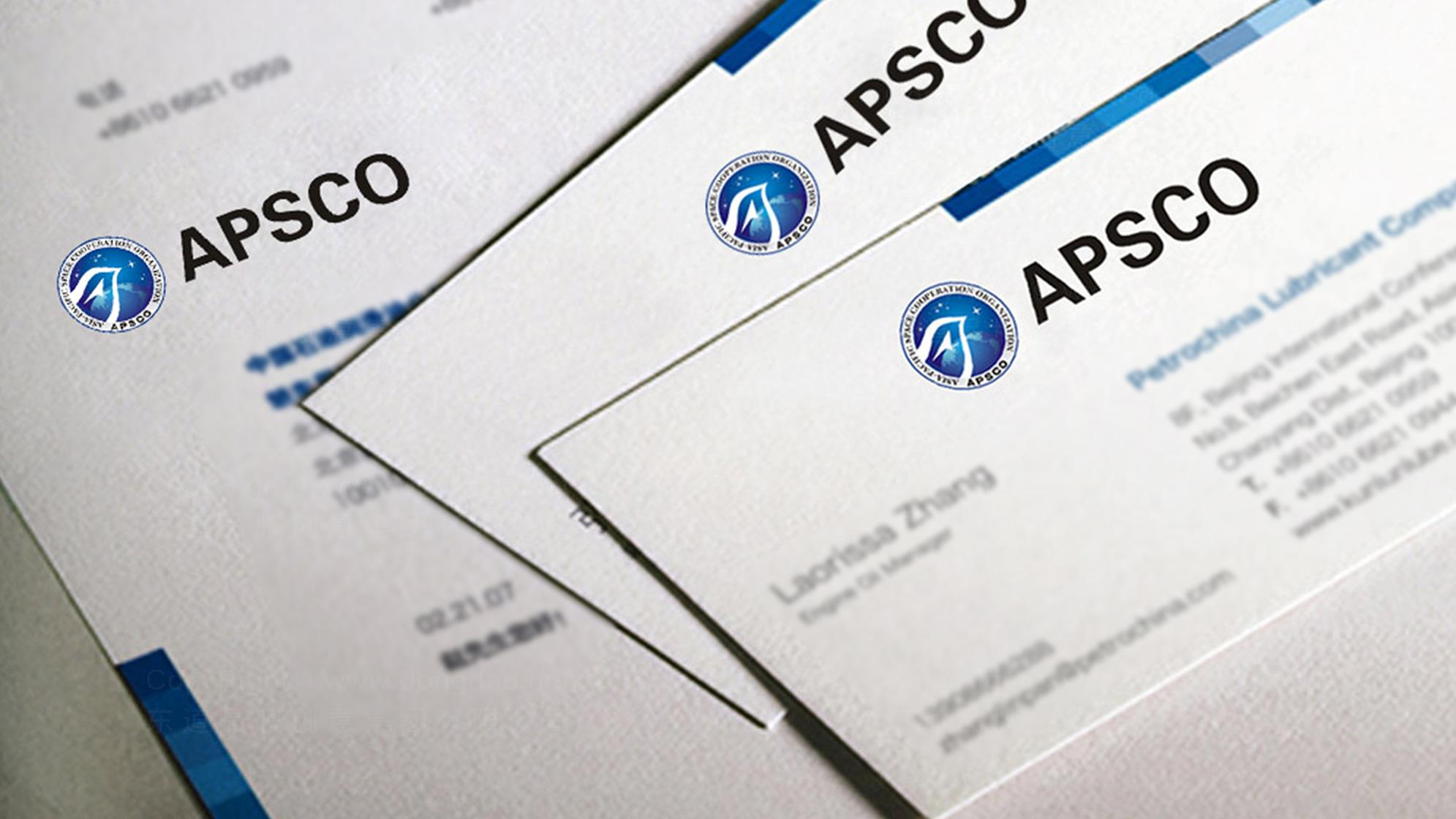 品牌设计亚太空间合作组织LOGO&VI设计应用场景