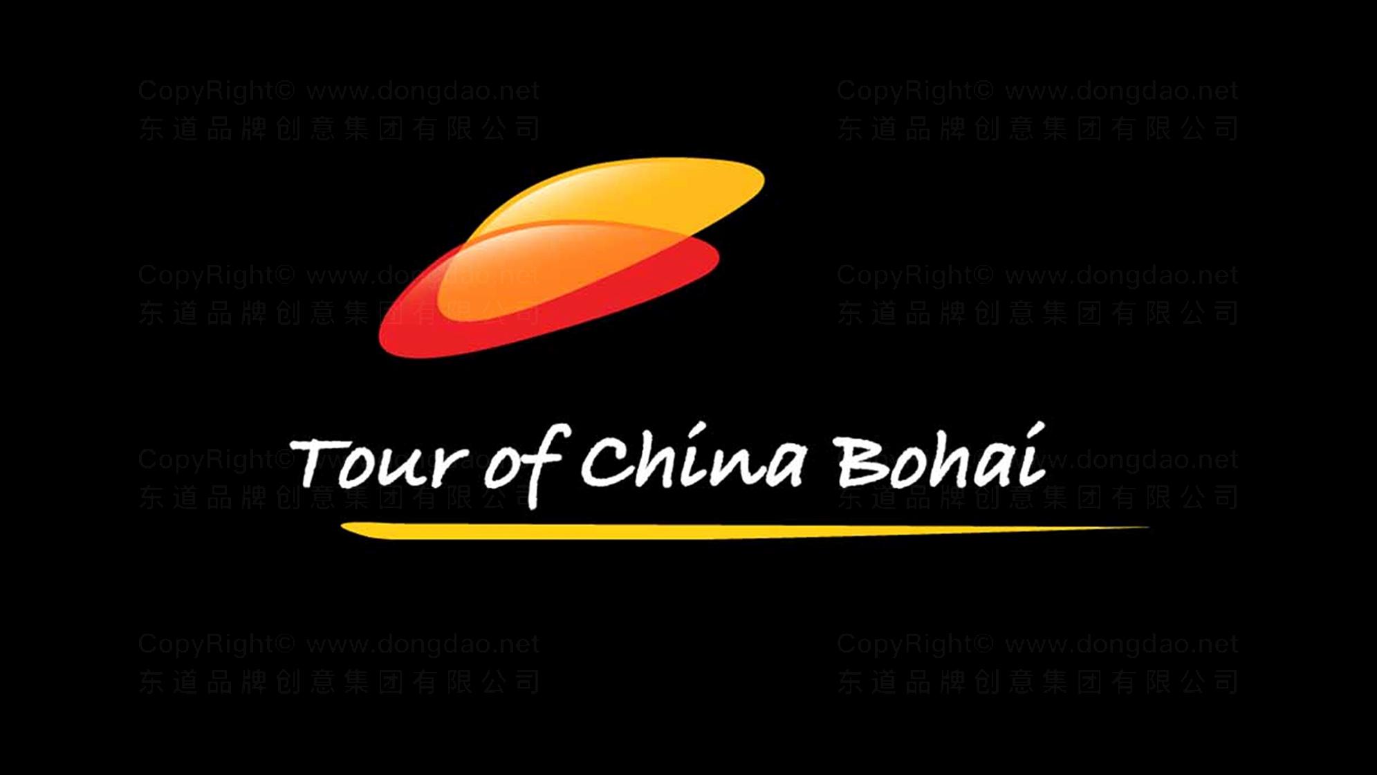 文体娱媒品牌设计环中国渤海国际公路自行车赛LOGO设计