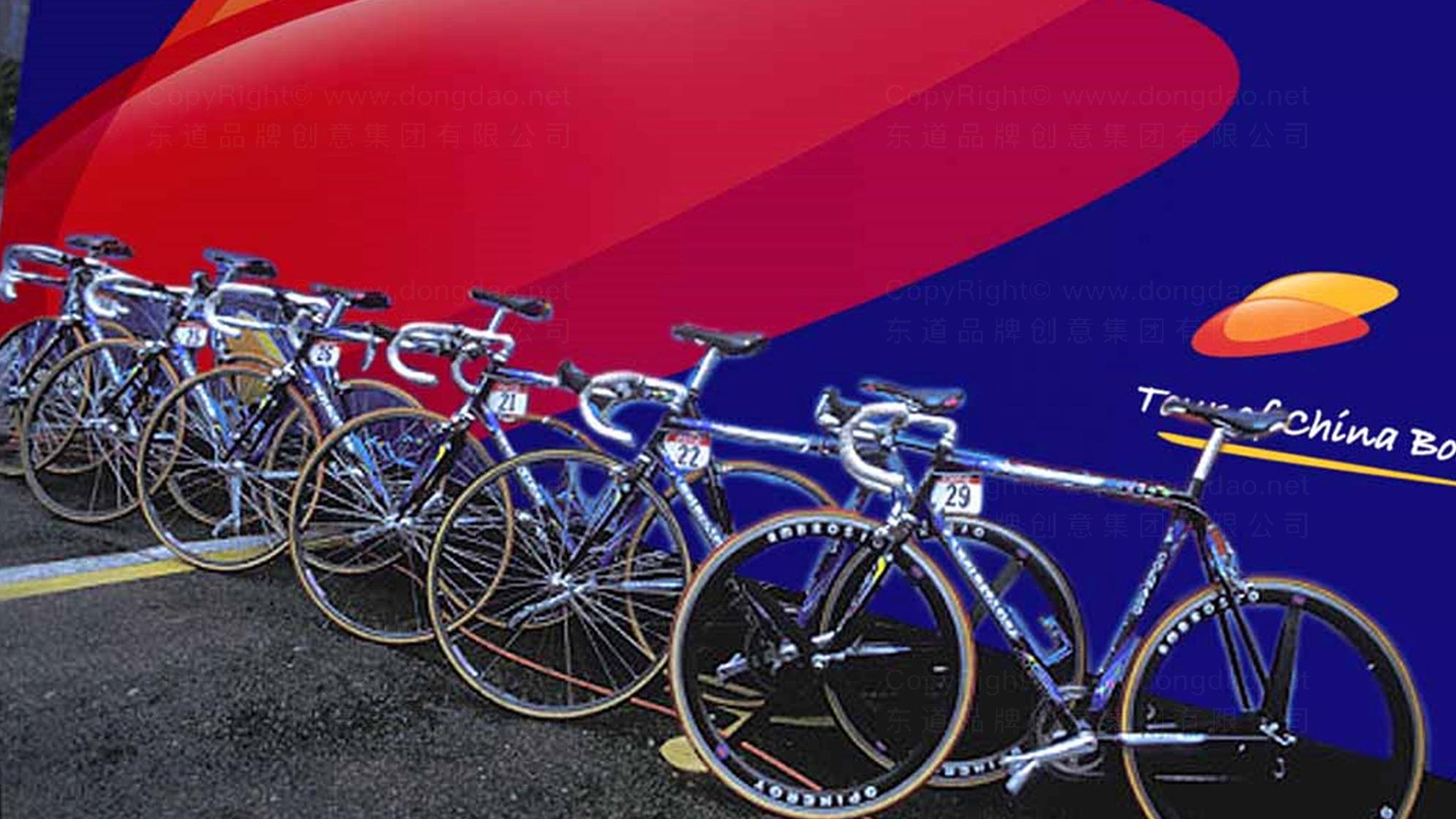 品牌设计环中国渤海国际公路自行车赛LOGO设计应用场景_2