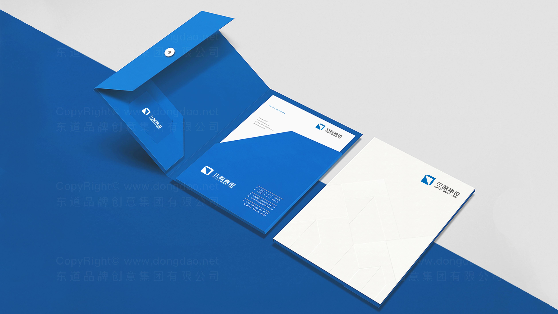 品牌设计三磊建设标志设计应用场景_3
