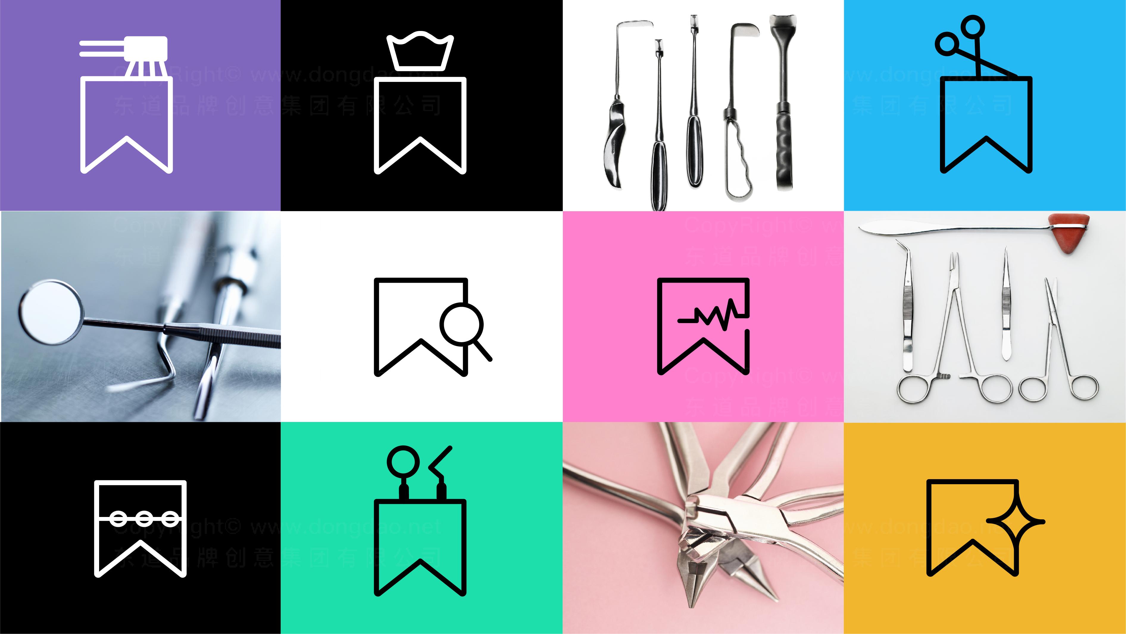 品牌设计松鼠口腔标志设计应用