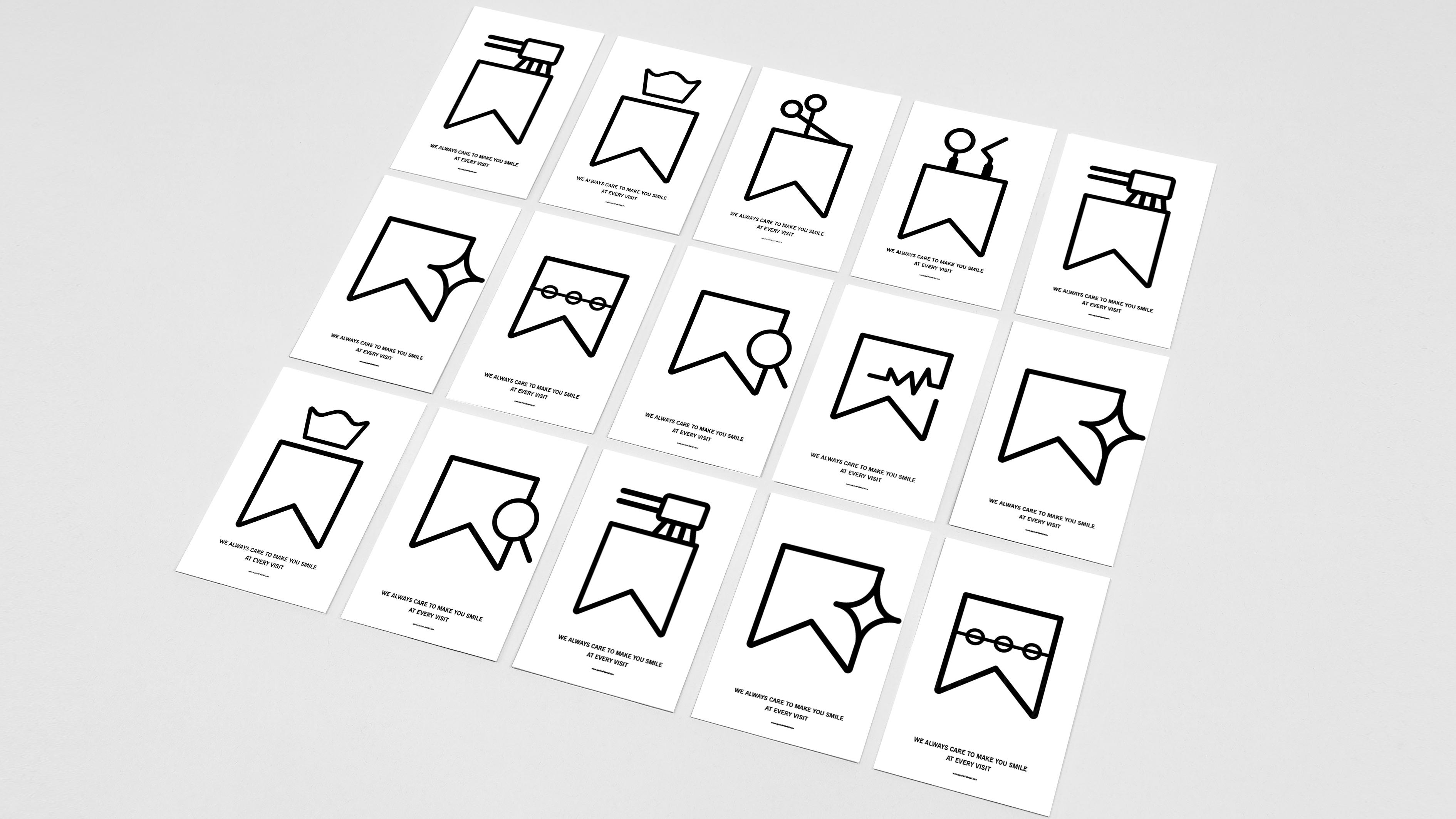 品牌设计松鼠口腔标志设计应用场景