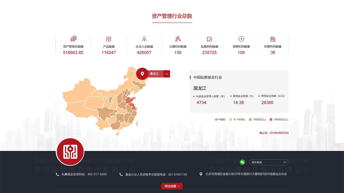 亚博APP数字中国证券投资基金业协会网站页面设计应用