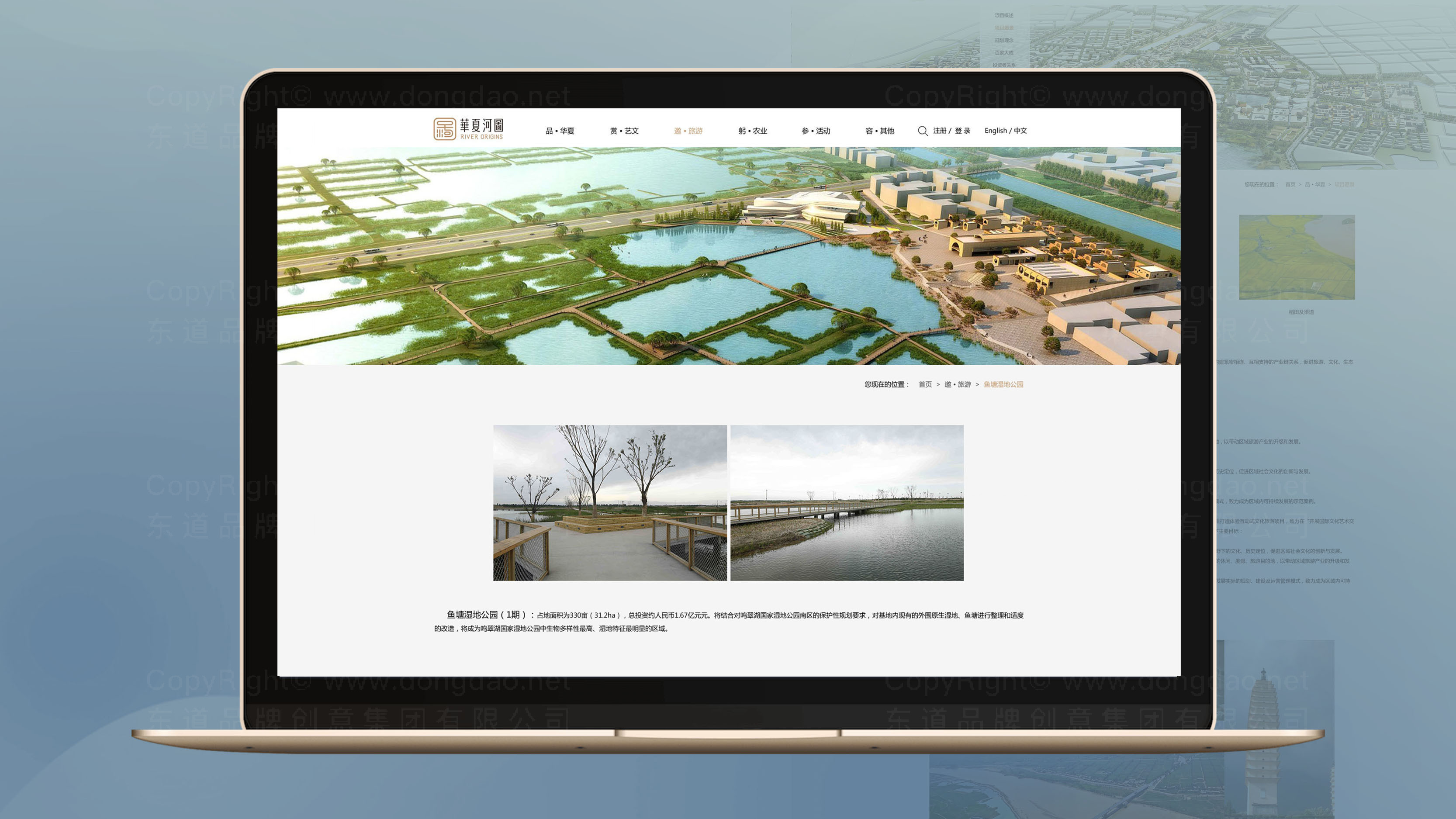 东道数字华夏河图网站设计应用